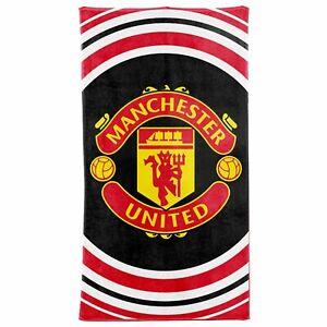 Official Manchester United Crest Bath & Beach Towel 100% Cotton 70cm x 140cm