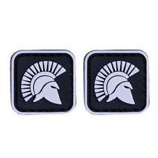 2 PCS MINI Spartacus Gladiatus Rome Fighters MORALE PATCH GLOW IN DARK