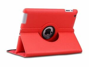 Red iPad 2 360 Degree Rotational Case Stand Cover Protect From Shock Dust