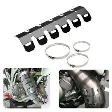 Universal Motorcycle Metal Exhaust Muffler Pipe Heat Shield Cover Heel Guard