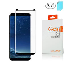 3X NX For Samsung Galaxy S9 3D Full Cover Tempered Glass Screen Protector -Black