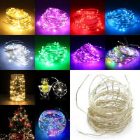 1/2/5/10M LED String Battery/USB/12V Supply Copper Wire Fairy Lights Party Xmas