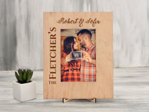 Rustic Picture Frame Custom Wood Photo Frame Wedding Gifts Christmas Family Gift