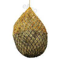 Elico Small Hole Haynet Haylage Net - Holds 6.5kg Hay - Black/Orange