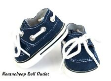 "Navy Boat Deck Inspired Shoes Fits 18"" American Girl Boy Doll Clothes"