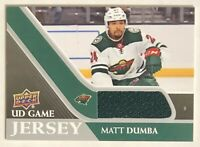 2020-21 Upper Deck Series 1 RARE UD GAME JERSEY Matt Dumba RELIC PATCH SP