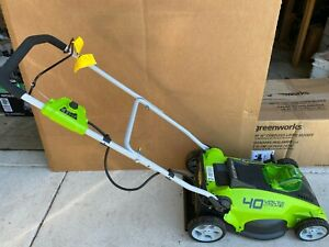 "Greenworks 25322 G-MAX 16"" 40V Cordless Lawn Mower, No Battery/Charger/Grass Bag"