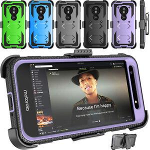 For Motorola Moto E5 Cruise/GO/G6 Play/G7 Power Screen Protector Phone Case Clip
