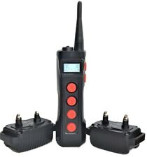 Waterproof 1000M Remote 2 Dog Training Shock Collar Trainer  w/ Auto Anti Bark