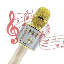 Microphone,Wireless Microphone Karaoke Mini Bluetooth Handheld Speaker Q9 Golden