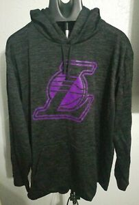 LOS ANGELES LAKERS 2XL HOODIE HOODY SWEATSHIRT NBA BASKETBALL MENS NEW HEATHER
