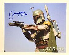 Star Wars Jeremy Bulloch Hand Signed Boba Fett Bounty Hunter Photo RARE!