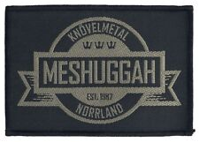Meshuggah  Crest - WOVEN SEW ON PATCH - free shipping