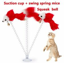 2017 Sucker Spring Swing Mouse Teasing the Cat Toys With Bells Products Random