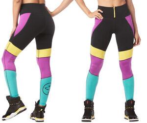 Zumba - I Want My Zumba High Waisted Leggings - Purple Power size XS, Small, XL