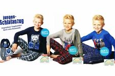 Jungen Flanell Schlafanzug Pyjama 2-teiler 3 Farben 122 128 134 140 146 152