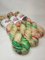 SW Merino/ Nylon yarn, DK weight, 100g, CHRISTMAS COOKIE