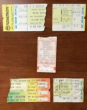 RARE Blue Oyster Cult Ticket Stubs1970's Vintage B.O.C.