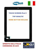 TOUCH SCREEN Apple iPad 2 A1395 A1396 A1397 3G - WIFI VETRO + TASTO HOME NERO