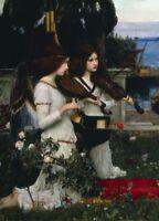 Saint Cecilia. The Players JOHN WILLIAM WATERHOUSE Pre-Raphaelite Poster