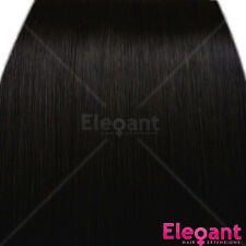 "20"" Clip in Hair Extensions HIGHLIGHTS Darkest Brown #2 Straight 8pcs 50g"