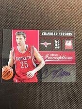 NBA Auto Card Chandler Parsons Panini Elite 2012-13