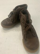 Nautica Boys Brown Boot Shoe Size 12 Zip Sides Pull On