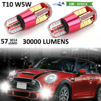2x T10 W5W LED CANBUS 501 194 57 SMD ERROR FREE Car Interior LED Side Light Bulb