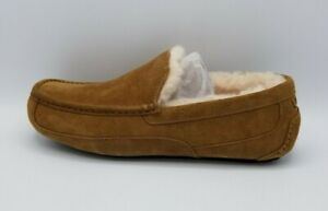 UGG Mens Ascot Chestnut Suede Slippers Slip On 1101110 Sz 13 100% Authentic New