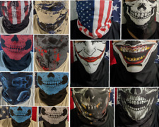 USA Seller Skull Bandana Face Mask Tube Neck Scarf Skeleton Motorcycle Headband