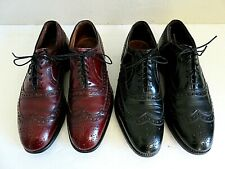 Allen Edmonds McAllister Wingtip Oxford Dress Shoes Red or Black Leather Mens 7E
