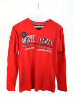 Geographical Norway Herren Langarmshirt Longsleeve Shirt Motiv Rot L
