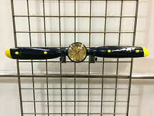 Resin Airplane Propeller Clock & Coat Rack