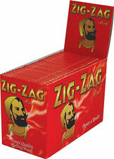 100xPks of Zig Zag Red cigarette papers rizla Full Box