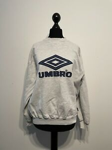 Vintage Retro 90s UMBRO Sweatshirt Pullover Crew Neck large Logo Size: Small / S