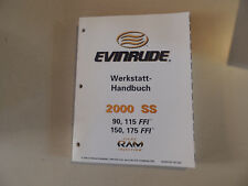 2000 Atelier Manuel Evinrude Hors-bord 90 115 150 175 FFI WERKSTATTBUCH