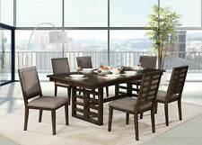 Walnut Brown Rectangular Table & Chairs - 7 piece Dining Room FURNITURE Set ICDS