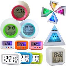Digital Alarm Clock LED Backlight Snooze Calendar Time Night Light Bedside Hot
