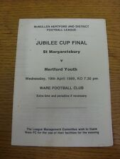 19/04/1989 Hertford League Jubilee Cup Final: St Margaretsbury v Hertford Youth
