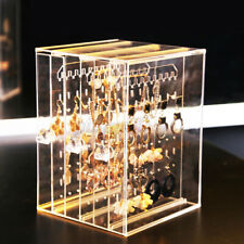 Acrylic Earrings Jewelry Holder Storage Box Display Stand Organiser Clear 3 Tray