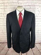Jones New York Men's Black Solid Wool Suit 42R 33X30 $595