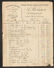 """PARIS (XII°) USINE / VERRERIES & CRISTAUX / LAMPES """"A. BOISSON"""" en 1881"""