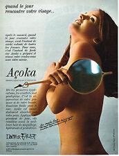 PUBLICITE ADVERTISING  1967   DOCTEUR FAUST   cosmétiques ACOKA
