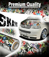 1500mm x 300mm SKATE StickerBomb Air Drain Vinyl - Car Wrap / Sticker