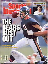 Sports Illustrated 1988 JIM McMAHON Chicago Bears Football NO LABEL
