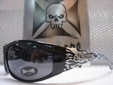 NEW MOTORCYCLE BIKER STYLE DAY RIDING CHOPPERS SUN GLASSES SHADES Silver Flames