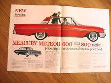1961 Mercury Meteor 800 & 600 Series Ad