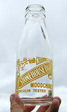milk bottle : super 1950's Stonehouse WOODCHURCH Kent : dairy
