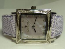 Lucien Piccard Ladies Purple Crystal Swiss Sapphire Coated - Works