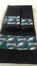 Philadelphia Eagles 3 Piece Bath Towel Set Handmade   GREAT GIFT!!!